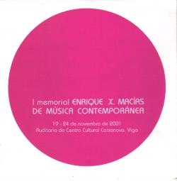I Memorial Enrique X. Macías de Música Contemporánea