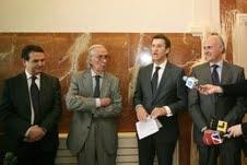 Abel Caballero, Luis Caruncho, Alberto Núñez Feijoo e Carlos García-Suárez