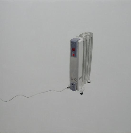 Ignacio Pérez-Jofre. Radiador, 2012. óleo sobre lenzo. 100 x 100 cm.