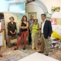 Un momento da visita ao estudio de Din Matamoro