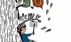 Laxeiro de neno, retratado por Federico Fernández, no libro para colorear que regalamos