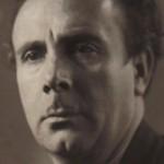 Retrato de Laxeiro a mediados dos anos cincuenta.