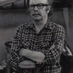 O artista nunha imaxe de 1970