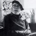 Unha imaxe de Laxeiro nos anos oitenta, no seu estudio de Vigo