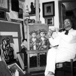 No seu estudio de Vigo, nos anos noventa