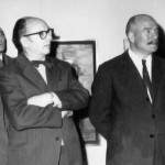 """En 1964 co pintor Vicente Fortes e outros membros da """"Sociedad Argentina de Artistas Plásticos"""""""