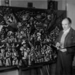 """En Buenos Aires, en 1961 pintanto """"La barca espacial"""""""