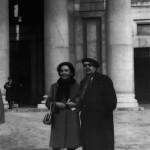 Con su compañera Eulalia de Prada en 1967