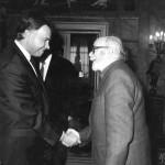 Ca. 1994. Con el entonces Presidente del Gobierno, Felipe González