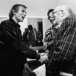 Con el bailarín Rudolf Nureyev en Vigo, en 1990