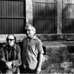 En los años setenta, con el pintor Manuel Colmeiro en Silleda, Pontevedra