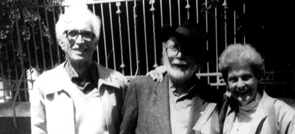 Neira Vilas, Laxiero e Anisia Miranda en 1991, na II Mostra Unión Fenosa, na Coruña