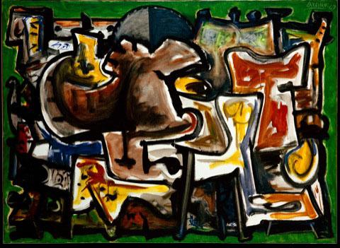 CU.67-67.0357. Picnic, 1967. Óleo sobre tea. 80 x 110 cm.